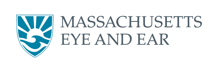 Massachusetts eye and ear logo landscape with transparent background