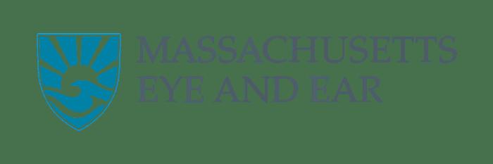 Massachusetts eye and ear logo landscape with transparent background