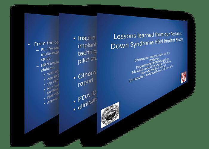 imagen de las lecciones aprendidas de nuestro artículo de estudio sobre implantes HGN con síndrome de Down pediátrico