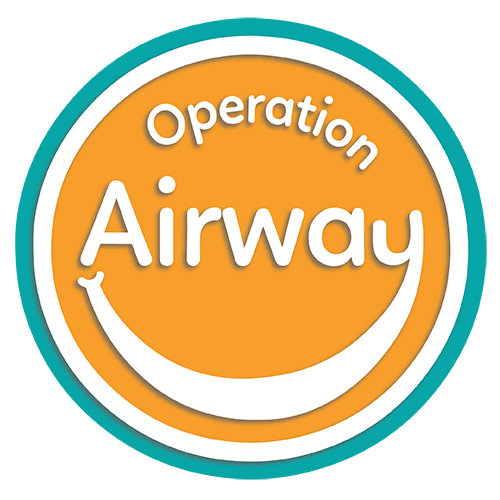 Logotipo de Operation Airway optimizado con borde azul